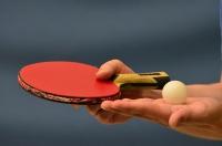 Stalo teniso varžybų momentas
